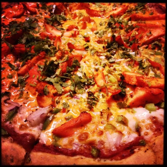 Butter Chicken-Homemade special sauce, Onions, Green Peppers, Cheese, Chicken & Makhani sauce