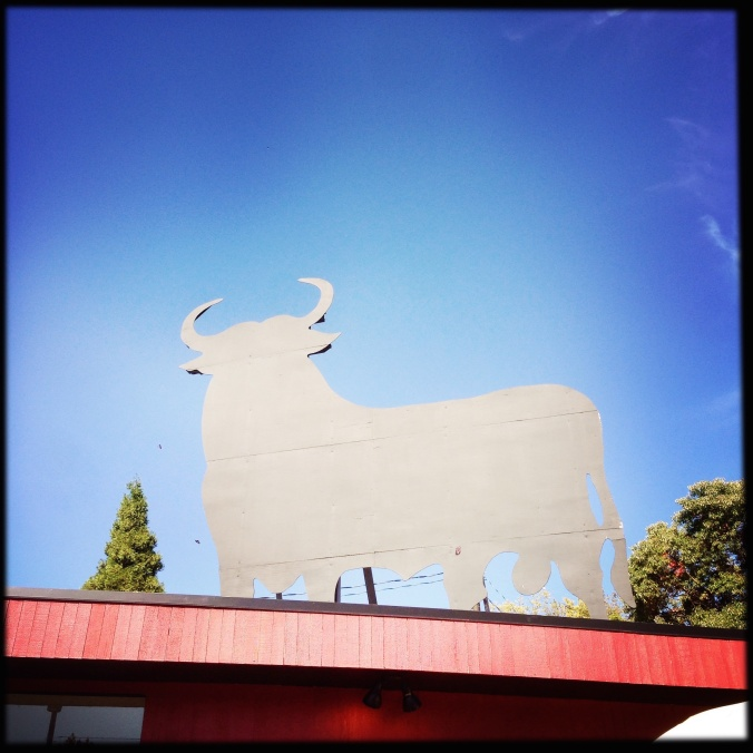 An icon on the east side-Pix's bull.